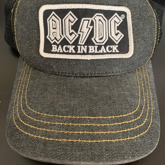 AC/DC Back in Black Snap Back Baseball Hat